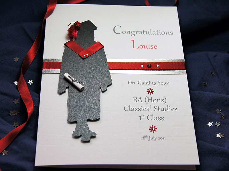 The Graduate - Female handmade graduation card