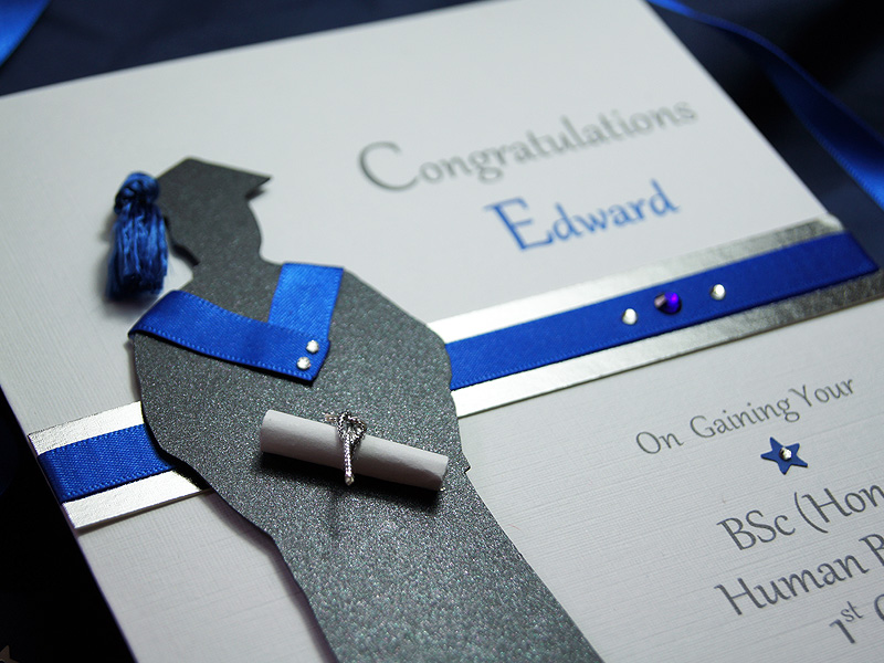 The Graduate Male handmade graduation card