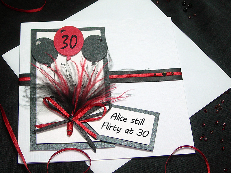 Manhattan Black & Red – Handmade birthday card