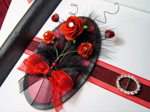 Luxury handmade valentines card