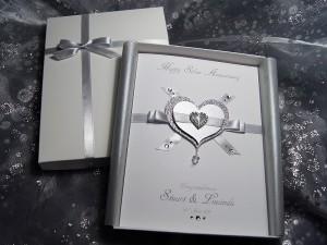 Everlasting Silver - Handmade Anniversary Card