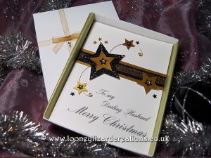 Stardust Luxury Handmade Christmas Card