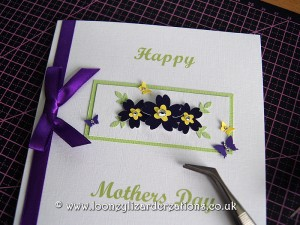 Mothers Day Card - Primrose in purple