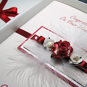 Picture featuring a Wedding card