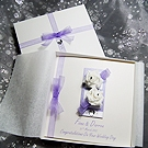 'Chloe - Purple' Luxury Handmade Wedding Card