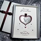 'Cinderella - Burgundy' Luxury Handmade Wedding Card