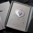'Cinderella - Pink' Luxury Handmade Wedding Card
