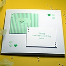 Elissa - Green - Handmade Christening Card