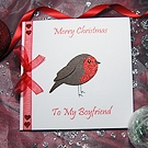 'Lil' Robin' Handmade Christmas Card