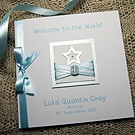 'Little Star - Boy' Handmade New Baby Card