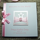 'Little Star - Girl' Handmade New Baby Card
