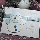 'Nole Frost' - Baby Boy Handmade 1st Christmas Card
