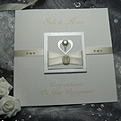 'Pearl' Handmade Engagement Card