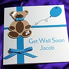 'Billy Bear' Handmade Get Well Soon Card