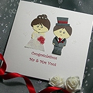 Teenie Mr & Mrs - Handmade Wedding Card