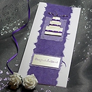 'Twisted Purple' - Handmade Wedding Card