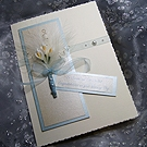 Wedding Bouquet - Handmade Wedding Card
