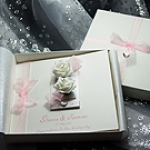 Chloe Pink  - Handmade Luxury Wedding Card