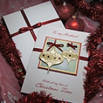'Christmas Baubles' Luxury Handmade Christmas Card