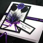 'Manhattan - Black & Purple' - Handmade Birthday Card