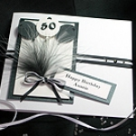 'Manhattan - Black & White' - Handmade Birthday Card