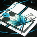 'Manhattan - Black & Turquoise' - Handmade Birthday Card