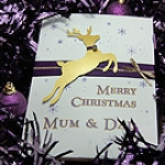 'Prancer' Handmade Christmas Card