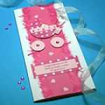 Special Delivery - Girl - Handmade New Baby Card