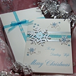 'White Christmas' Luxury Handmade Christmas Card
