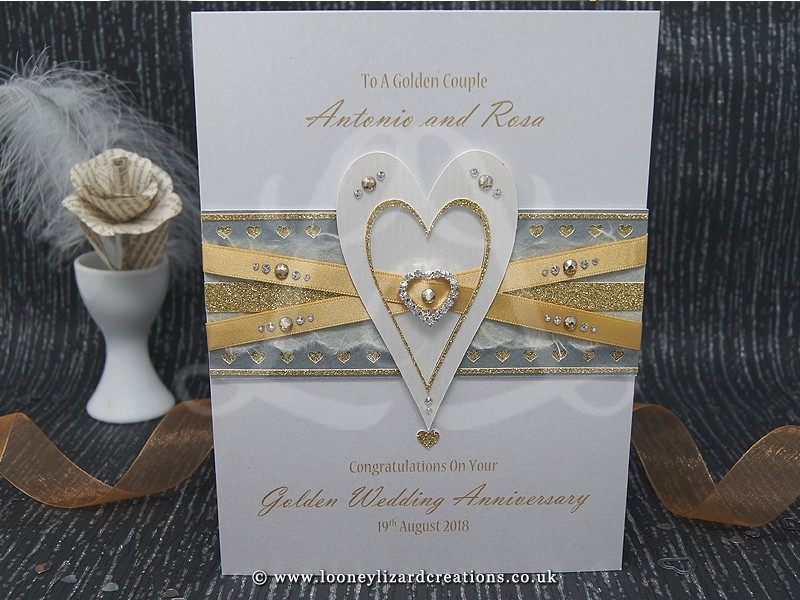 entwined  luxury anniversary card