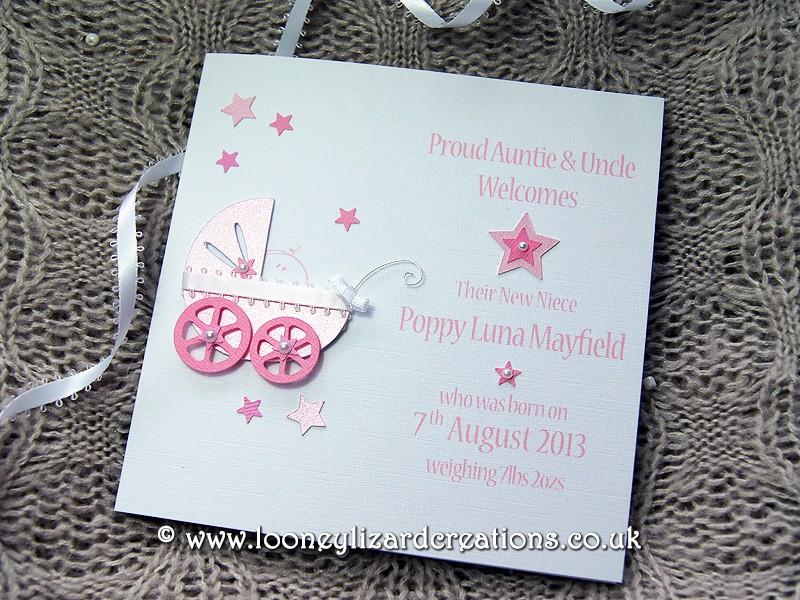 Precious Handmade New Baby Card