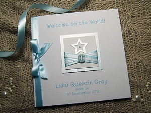 Hot Off the Crafting Mat: Little Star New Baby Card in Blue & Pink