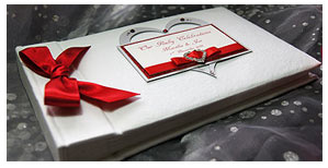 Hand decorated personalised photo albums