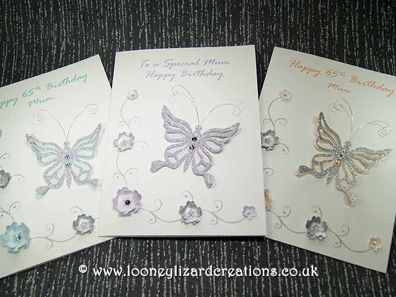 Birthday cards in a choice of different colours
