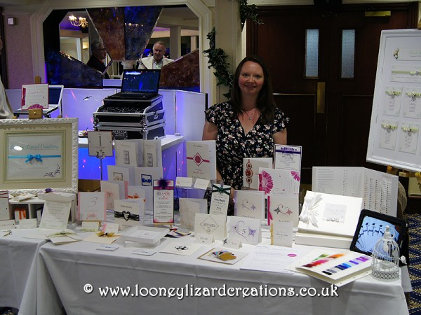 Me behind my wedding fair stand.