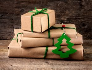 presents piled and wrapped