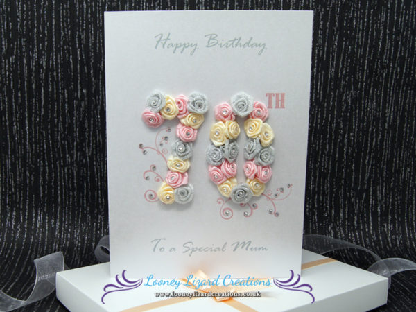 70th Birthday Card - Luxury Boxed