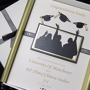Picture featuring a Graduation card