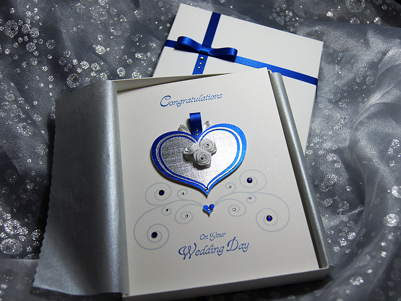 Cinderella Handmade Luxury Wedding Card – Handmade Luxury Birthday Cards