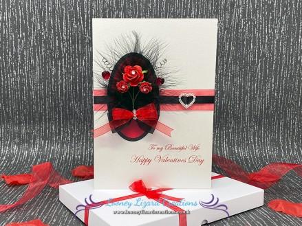 'Bella' Handmade Valentines Card