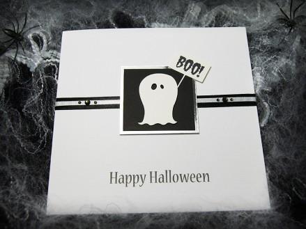 'Boo' Handmade Halloween Card