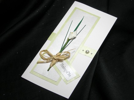Sympathy card with calla lilly