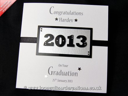 Cambridge - Handmade Graduation Card, will feature the year of graduation as the central design feature