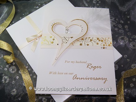 Crystal luxury handmade anniversary card thecheapjerseys Choice Image