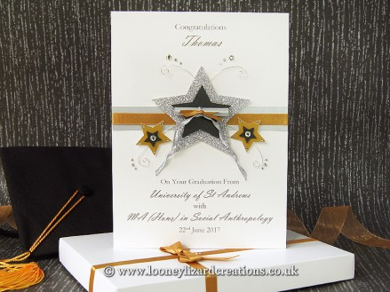 Dedication: Includes matching decorated presentation box to present your card in.