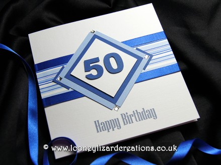 Diamond Geezer Blue Birthday card