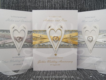 Entwined: Luxury Keepsake Anniversary Card, be forever entwined...