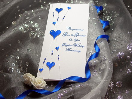 Forever after Sapphire Blue (45) anniversary card
