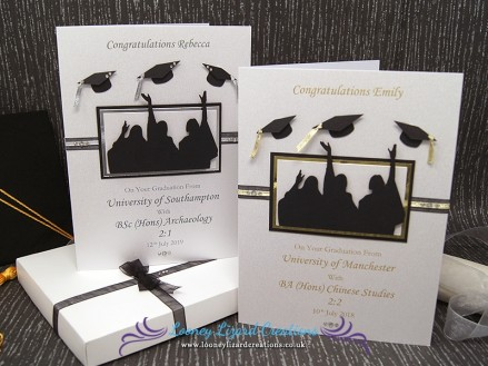 Graduation Day: Handmade to order and available in a choice of Silver or Gold