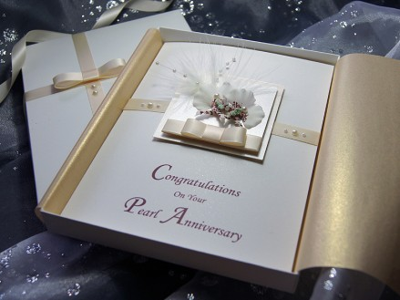 Luxury handmade anniversary card